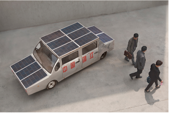 Solar Powered Chinese Car